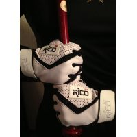 Rico White/Black Mesh Batting Gloves